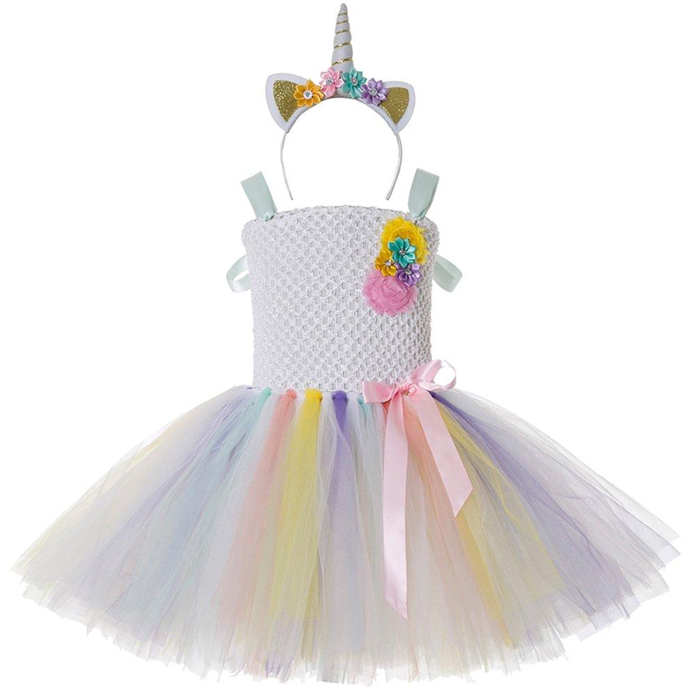 661fc6984c16 CIELARKO Vestito Bambina Unicorno Principessa vestito da tutu ragazza  estivo Abiti Bambina 2-11 Anni