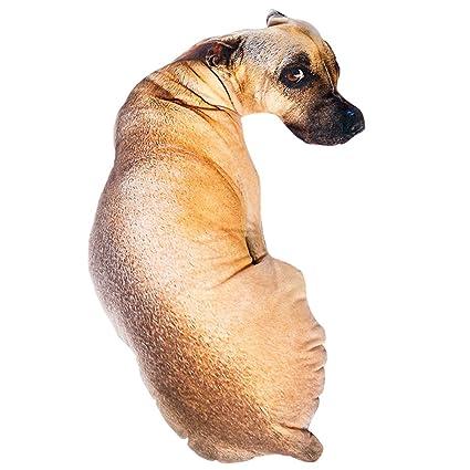 3D Plush Toy Animal Pillow Simulation Sausage Dog Shape Pillow