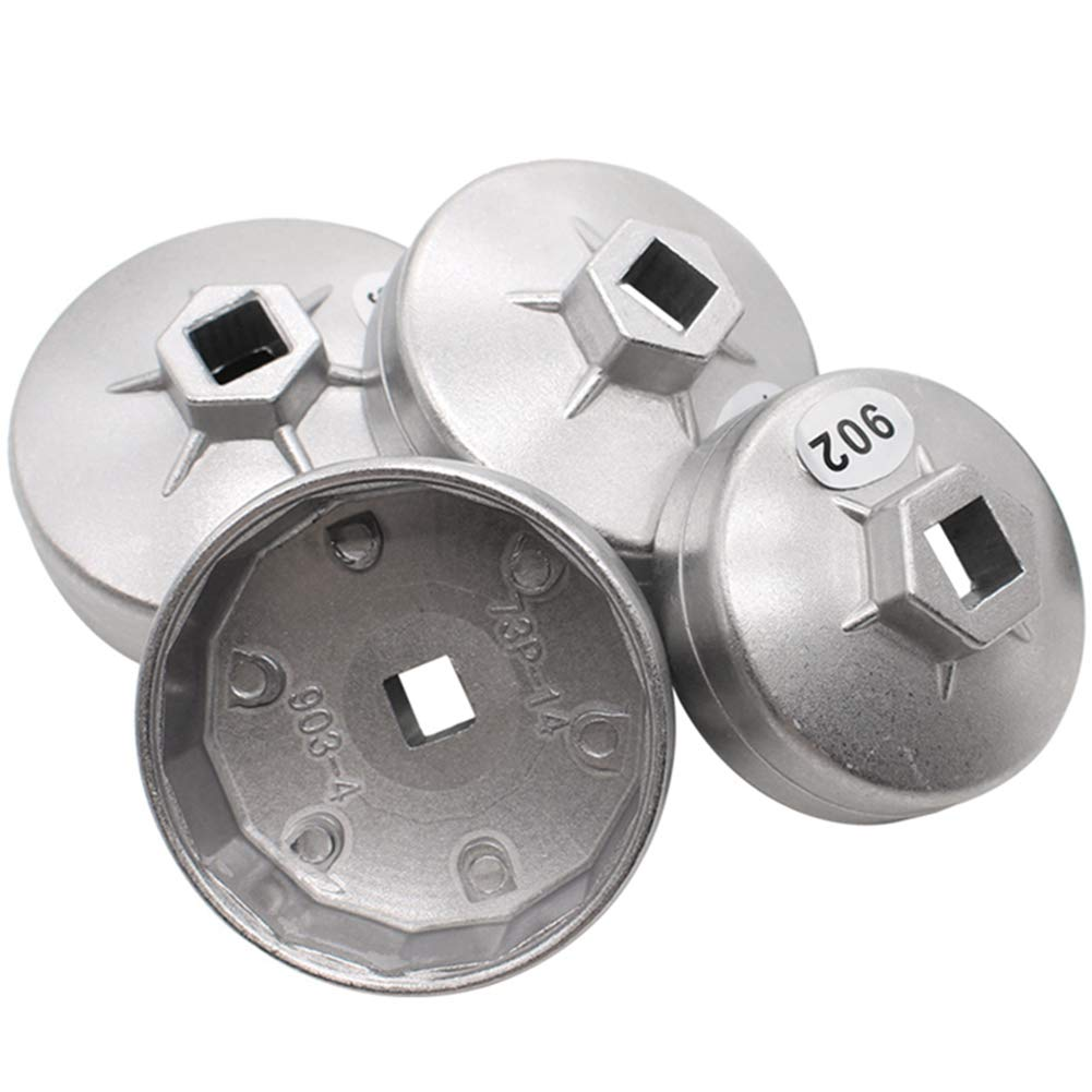 elegantstunning 23pcs/Set Aluminum Alloy Cup Type Oil Filter Cap Wrench Socket Removal Tool by elegantstunning (Image #2)