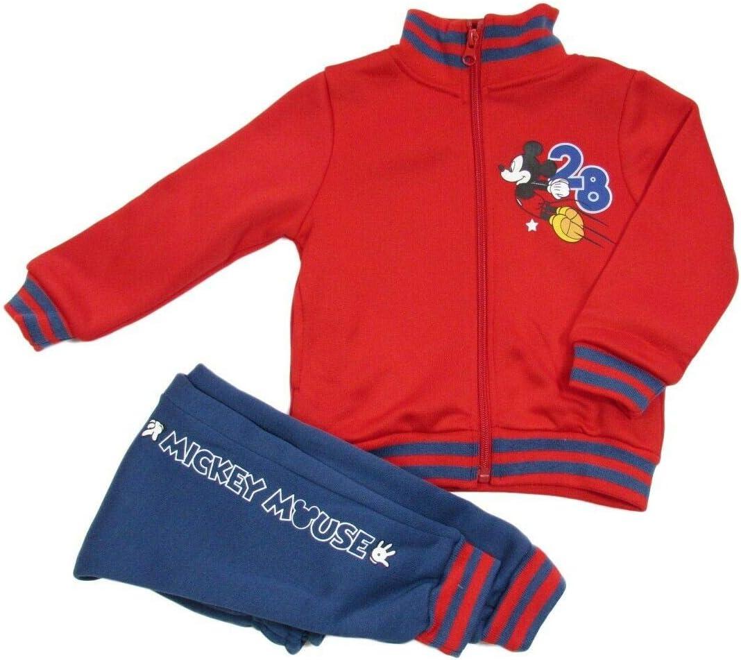 8 Anni, Rosso takestop Tuta da Ginnastica Mickey Mouse Topolino Felpa con Cerniera Zip Cartone Animato Disney Caldo Inverno Sportiva Jogging Bimba Bambina Idea Regalo