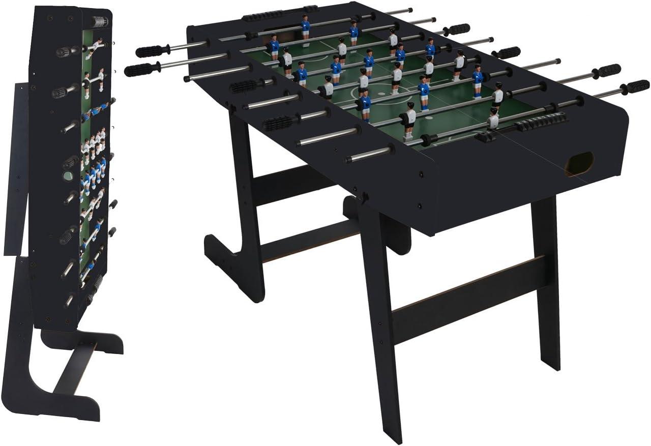 Mendler London - Mesa de futbolín, plegable, color negro: Amazon ...
