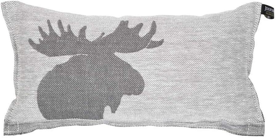 bleu fonc/é//blanc fabriqu/é en Finlande 1 coussin de sauna et de voyage en lin//coton 40 x 22 cm Jokipiin
