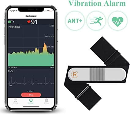 ECG//EKG Waterproof HR Sensor with Chest Strap ANT + Polar H10 Heart Rate Monitor for Men and Women Bluetooth