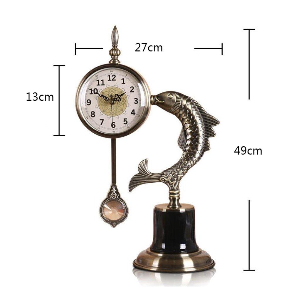 時計の金属の現代的なスタイリッシュなエレガントなサイレントノンティッキング時計、シンプルなクリエイティブウォールクロックリビングルームの寝室オフィスキッチン (色 : 7) B07DMBS9CC 7 7