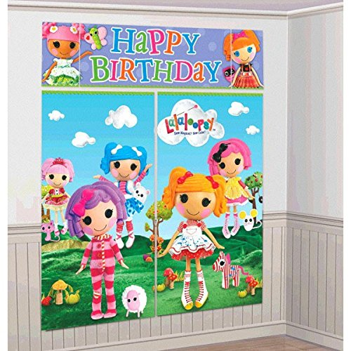 Adorable Lalaloopsy Birthday Party Scene Setters Wall Decorating Kit (5 Pack), Multi Color, 59