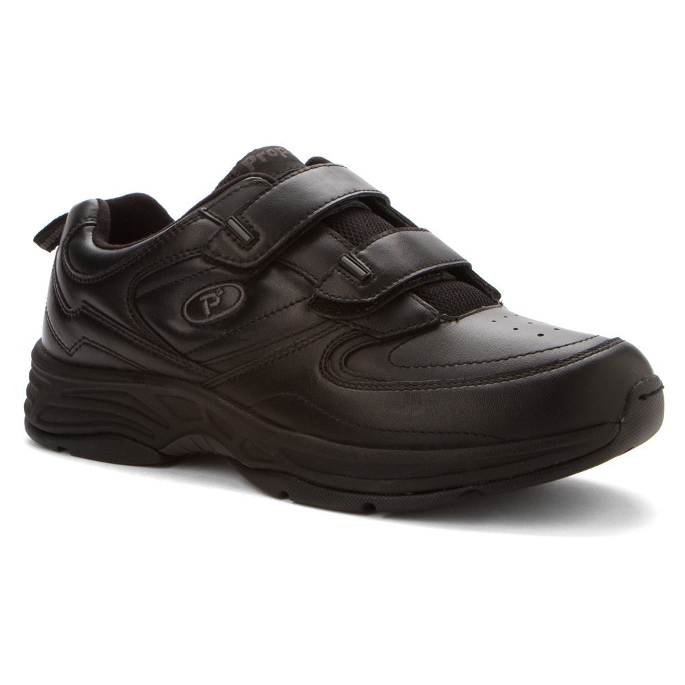 Propet Men's Warner Strap Walking Shoe 10.5 D(M) US|Black