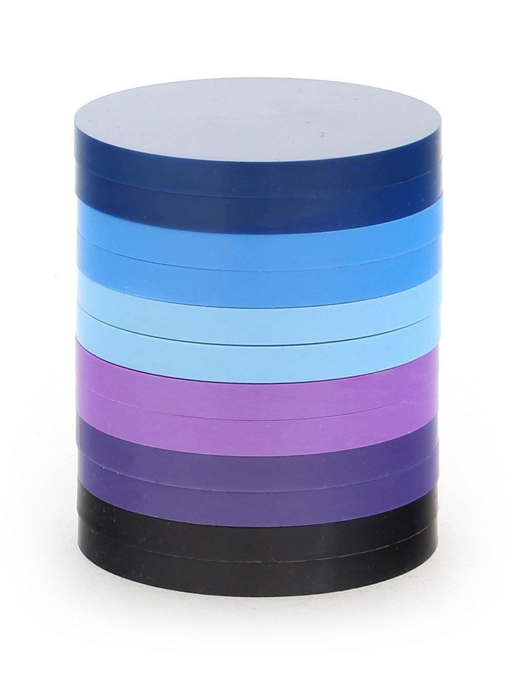 Alea Tools 2-Inch Magnetic Status Markers - Blue / Purple - 12-Pack