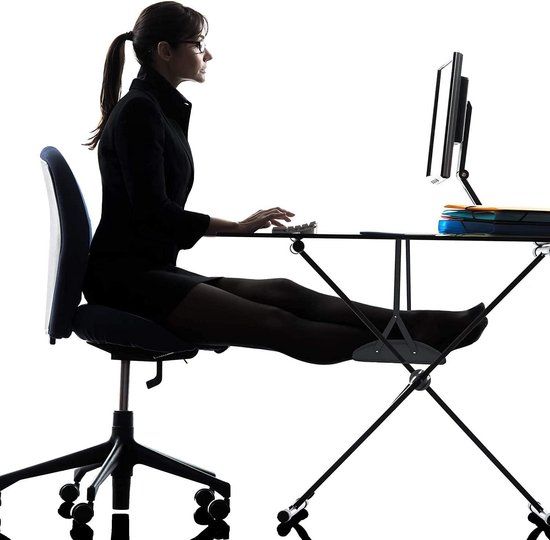 Office Foot Hammock Under Desk, Adjustable Desk Foot Rest for Work at Home Comfort Leg Fatigue Footrests Hammock, Airplane Foot Hammock, Footrest