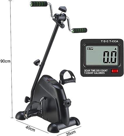 Pedal Exerciser - Para Ejercicios De Recuperación De Piernas,brazos Y Rodillas Con Monitor Lcd, Entrenador De Pedales De Bicicleta De Rehabilitación Para Discapacitados: Amazon.es: Salud y cuidado personal