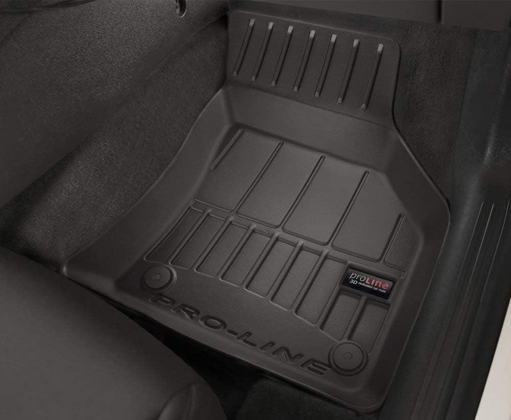 Frogum 3D407343 Set Completo di 4 tappetini 3D in Gomma per Auto con Sistema di Fissaggio Colore: Nero