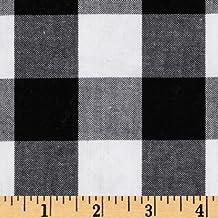 Kaufman 1in Carolina Gingham Black/White Fabric By The Yard