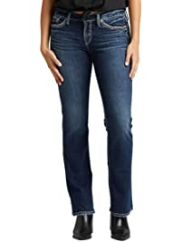 Silver Jeans Co. Womens Suki Mid Rise Slim Bootcut Jeans Jeans