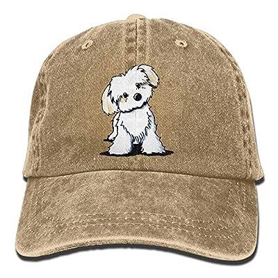 Cute Maltese Puppy Dog.PNG Unisex Baseball Cap Printed Adjustable Snap Back Hat