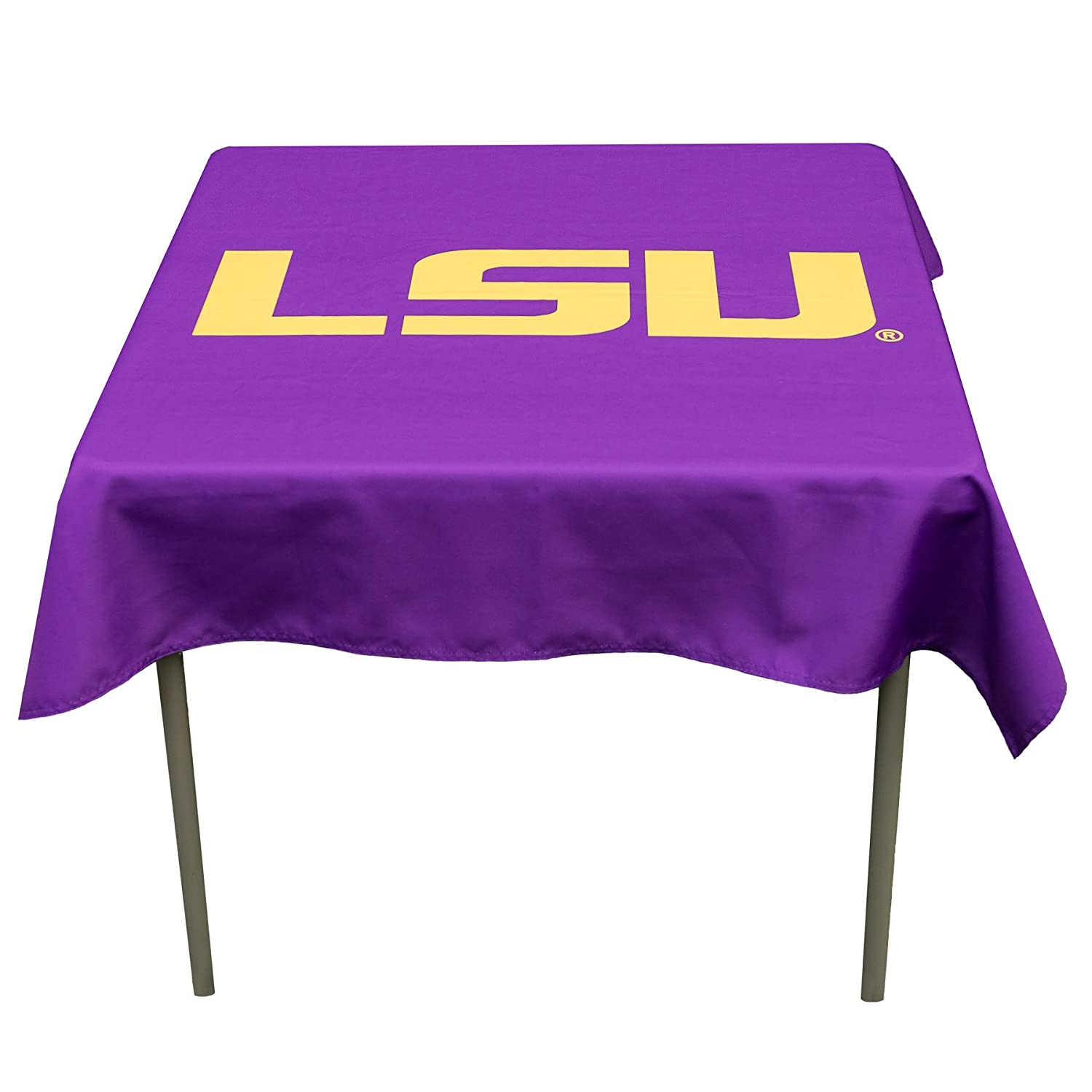 College Flags and Banners Co Louisiana State LSU Tigers Logo Tablecloth or Table Overlay