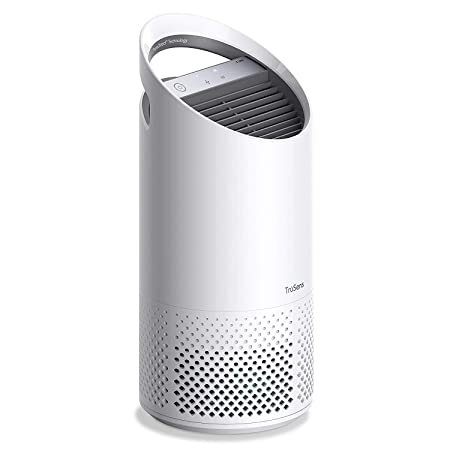 TruSens Air Purifier 360 HEPA Filtration with Dupont Filter UV Light Sterilization Kills Bacteria Germs Odor Allergens in Home Dual Airflow for Full Coverage Small
