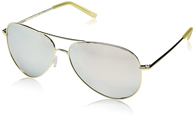 b487543a98 Image Unavailable. Image not available for. Color  Polaroid Sunglasses  Women s Pld6012n Polarized Aviator Sunglasses GOLD 62 mm