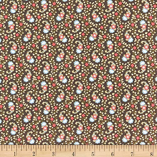 Windham Fabrics Colonial Williamsburg Paisley Charcoal Fabric Fabric by the Yard