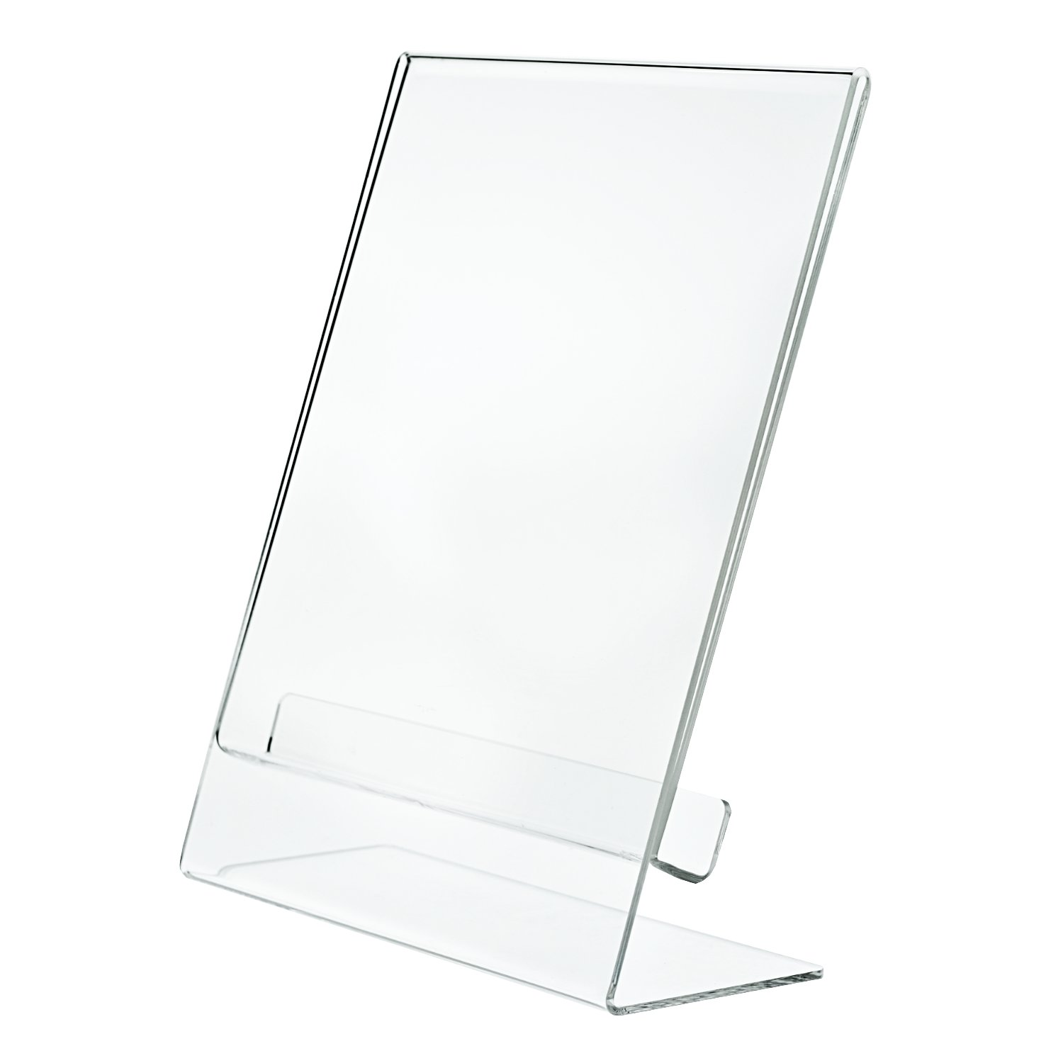 BLOWOUT SALE - Set of 6 - SUPER THICK Clear Portrait Frames - Slant Back Acrylic, 8.5 x 11 Inches, 3mm Thick, Clear Sign Holder, Display Stand, Brochure Holder, and Document Holder