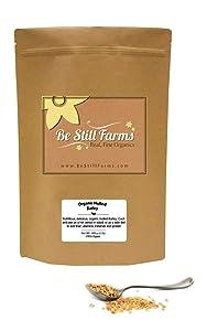 Be Still Farms Organic Hulled Barley (5lb) Grind into Organic Barley Flour for Puffed Barley - Soak to make Crushed Malted Barley for Barley Malt Syrup - Make Barley Cereal - Vegan Approved Barley