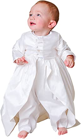 Newdeve Baby Boys Christening Baptism Set Ivory Outfit with Hat