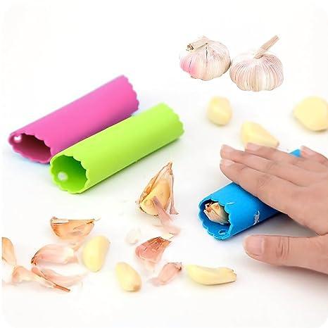 Amazon.com: johouse pelador de ajos de silicona Peeling ...