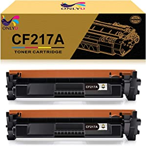 ONLYU Compatible Toner Cartridge Replacement for HP 17A CF217A Toner to Use with Laserjet Pro MFP M130fw M130nw M130fn M130a Laserjet Pro M102w M102a Printer with Chip (Black, 2-Pack)