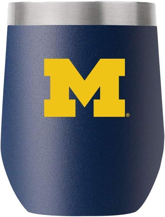 Michigan 12oz Stemless Navy Tumbler