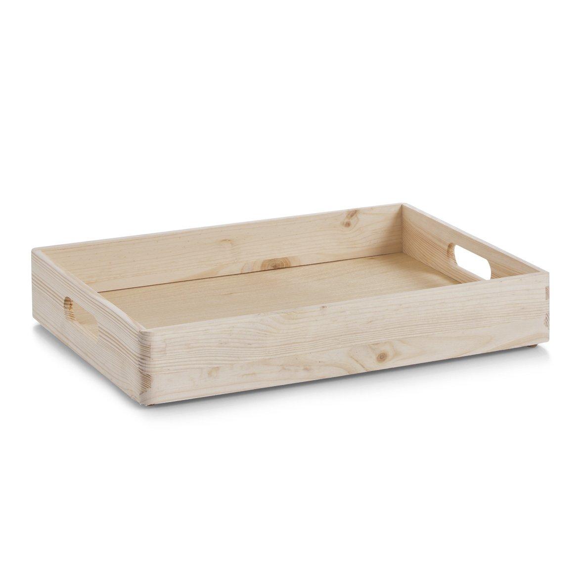 Zeller Multi-Purpose Box, Pinewood, Multi-Colour, 40 x 30 x 7 cm 13142