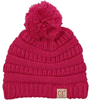 ee54f682018fe Motobear Exclusives Kids Beanie Hat Baby Toddler Knit Children Pom Winter  Hat Beanie Kids 2-