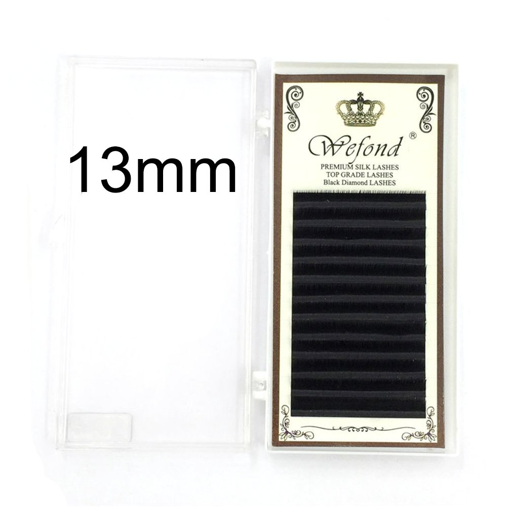 Gracefulvara D Curl Natural Eye Lashes Grafting Extension False Eyelashes 12mm