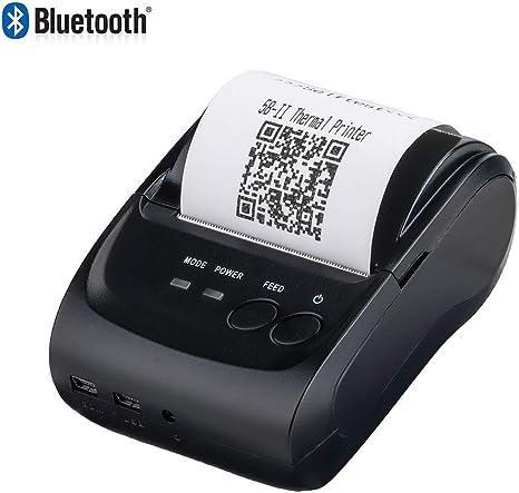 Amazon.com: 2 Inchs Wireless Bluetooth Receipt Thermal ...