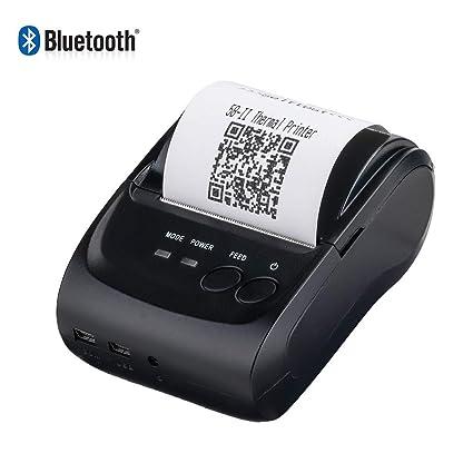 Amazon.com: DDPP - Impresora térmica inalámbrica Bluetooth ...