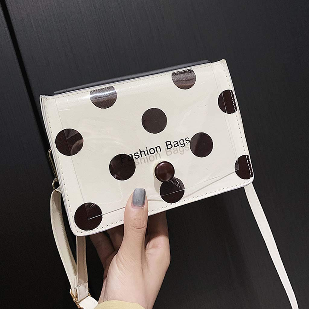 Willow S Fashion Womens Messenger Bag Solid Color Wave Point Messenger Bag Shoulder Bag Jelly Bag