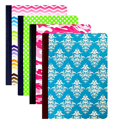 "4 Unit Variety Pack Composition Notebooks (College Ruled, Non-Punched) (9.75"" x 7.25"" @ 200 Pages)"