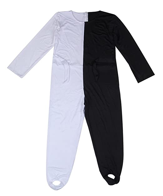 da9c47e75f53 Youtei Black and White Optical Illusion Tights Dance Performance Unisex  Costume (6.2feet(190cm