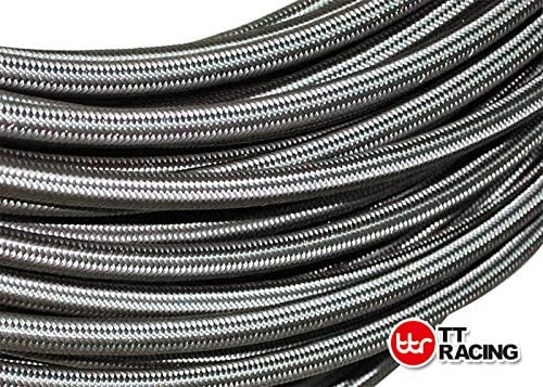 Price for 1FT 6 AN AN6 Stainless Steel Braided Fuel Line Hose E85 8.3mm 5//16