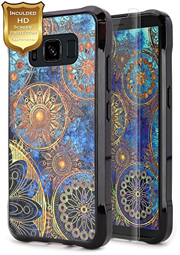 Active Wheel (S8 Active Case, Galaxy S8 Active Case With [HD Screen Protector] NageBee Design Premium [Ultra Slim Thin] Scratch Resistant TPU Rubber Hard Cover Case For Samsung Galaxy S8 Active - Gear Wheel)