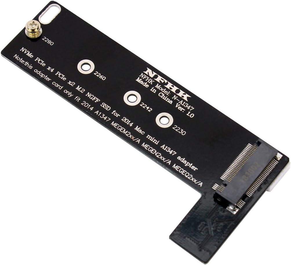 BGNing PCI-E x4 x2 M.2 NGFF M-Key NVME AHCI SSD Converter Card Adapter for 2014 MacBook Mini A1347 MEGEN2 MEGEM2 MEGEQ2