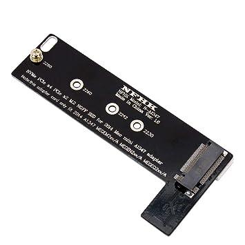 BGNing PCI-E x4 x2 M.2 NGFF M-Key NVME AHCI SSD Adaptador de Tarjeta convertidor para 2014 MacBook Mini A1347 MEGEM2 MEGEQ2