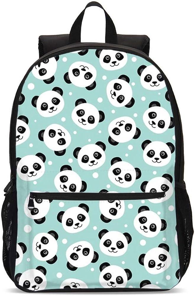 DuJiea Cute Panda Kids Backpack Set 3 Piece Student Back To School ...