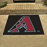 "Fanmats Home Indoor Sports Team Logo Mat Arizona Diamondbacks All-Star Rugs 34""x45"""