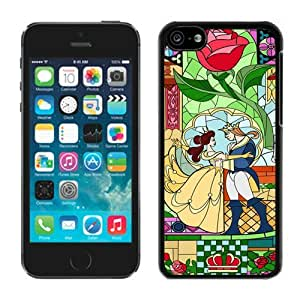 Beautiful Designed Case With Beauty And The Beast Black For iPhone 5C Phone Case