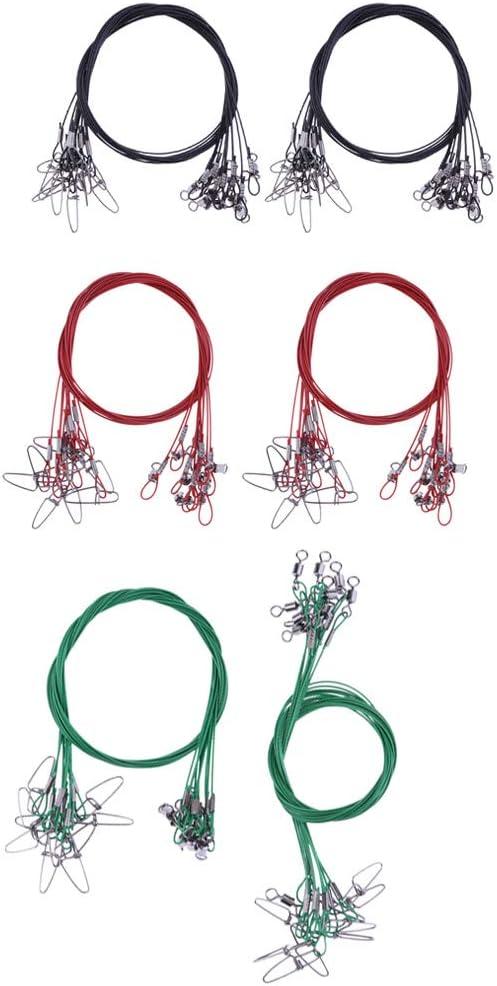 Praktisches Angelzubeh/ör zum Einsatz beim Raubfischangeln T TOOYFUL 20 pcs Hochwertige Stahlvorf/ächer mit Wirbel L/änge 50 cm