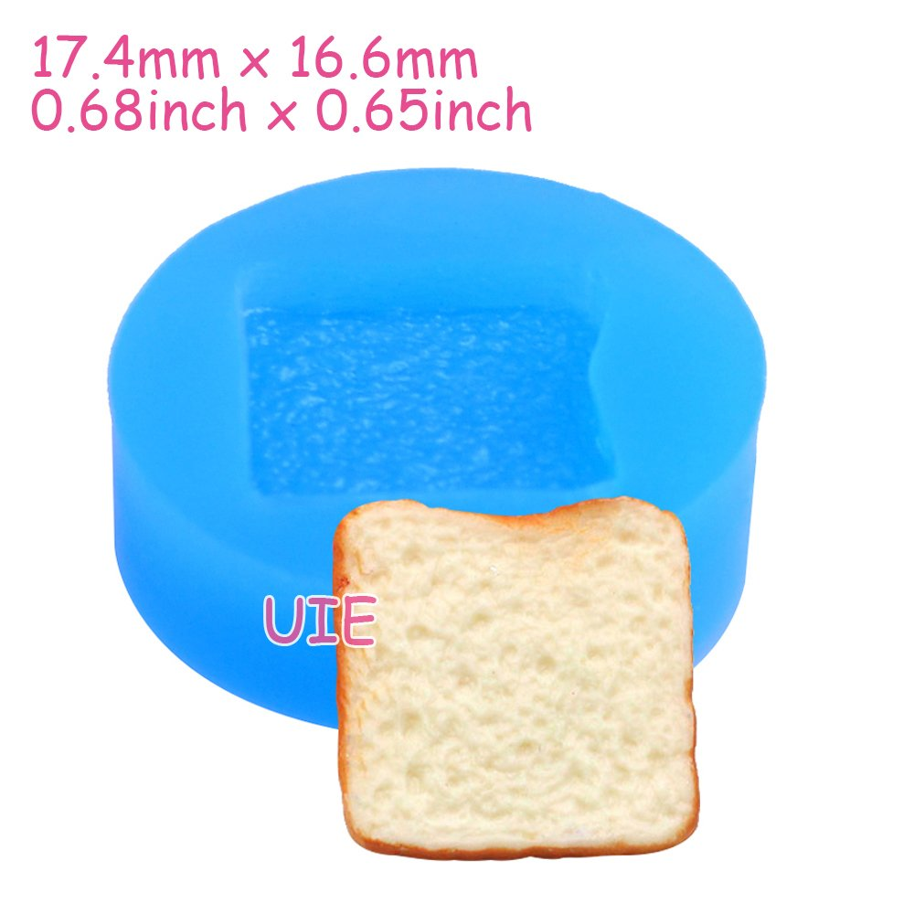 083LBG Bread Slice Silicone Flexible Mold Decoden Kawaii Miniature Mold Sweets Polymer Clay Mini Food Jewelry Cabochon Charms