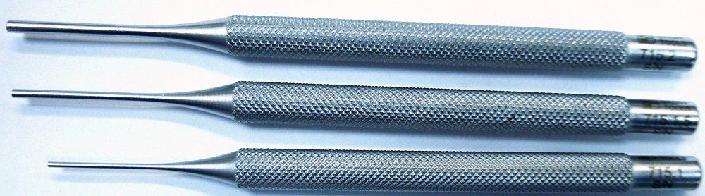 3 pcs Set High-Quality Professional Chrome Vanadium Parallel Pin Punch 1 � 2mm PB Swiss Tools