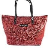 Designer bag 'Jacques Esterel' red leopard.