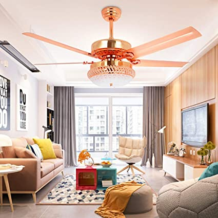 Modern Ceiling Fan With Led Light Remote Control Home Decoration For