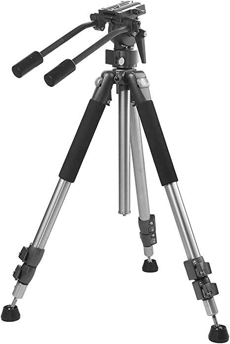 Professional Dual Handle Aluminum 67 Tripod for Canon EOS Rebel T5 Bubble Level