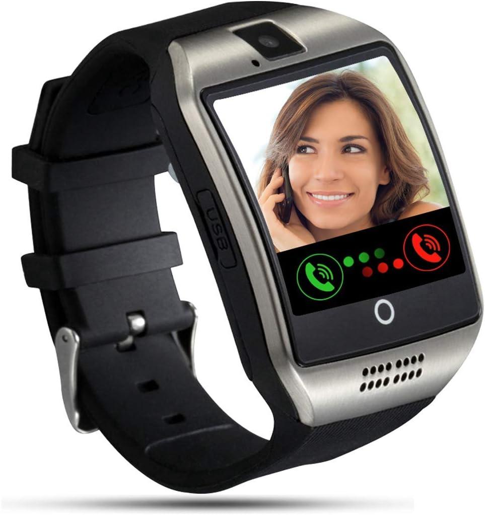 Tipmant Smartwatch, Reloj Inteligente para Hombre Mujer Niños, Relojes Inteligentes con Ranura para Tarjeta SIM Cámara Música Podometro Pulsera de Actividad para Android Xiaomi Samsung Huawei (Plata)