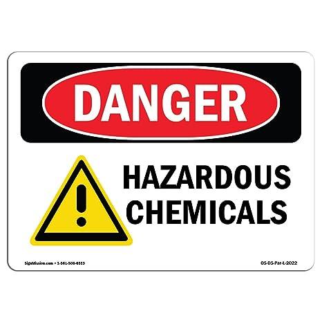 Amazon.com: Señal de peligro de OSHA – Productos químicos ...